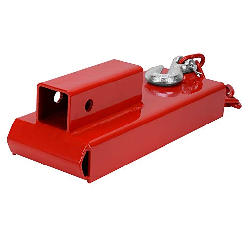 """YINTATECH Forklift Hitch Receiver 2"""" Insert Pallet Forks Trailer Towing Adapter with Safety Chain"""