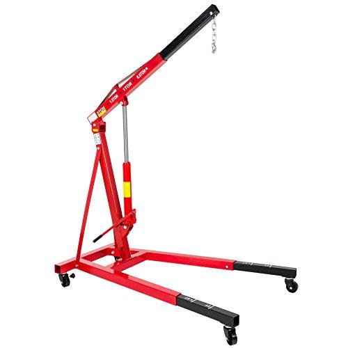 TecTake Professioneller Werkstattkran Tragfähigkeit bis 2000 kg Motorkran Hebekran klappbar // Gesamtgewicht: 123 kg