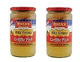 Rokeach Old Vienna Gefilte Fish 24oz '2 Pack' Delicious Sweet Recipe