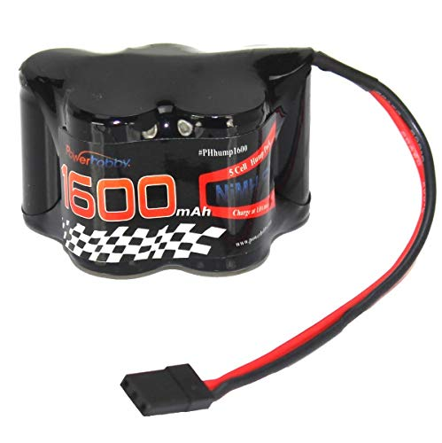 Powerhobby 6V 1600mAh NiMH Receiver Hump Battery Pack Fits : 1/8 1/10 Losi T-Maxx HPI Ofna Mugen Kyosho Associated