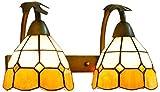 HCMNME Lámpara Industrial, Shade Shade Shade Schade Indoor, Lámpara de Pared Lámpara de Pared de 8 Pulgadas Luz de Pared de Estilo Tiffany para Sala de Estar,Decoración del hogar