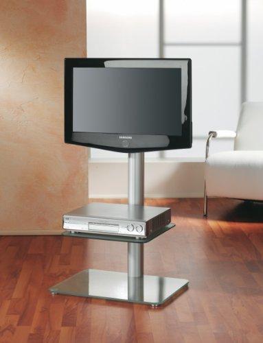 VCM Torino LCD-Standfuß Aluminium Mattglas