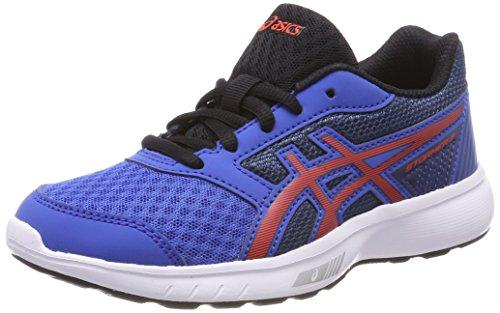 Asics Stormer 2 Gs, Zapatillas de Running Unisex Niños, Azul (Victoria Blue/Cherry...