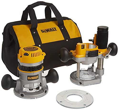 DEWALT Variable Speed Fixed/Plunge Base Kit Router With Soft Start (DW618PKB)