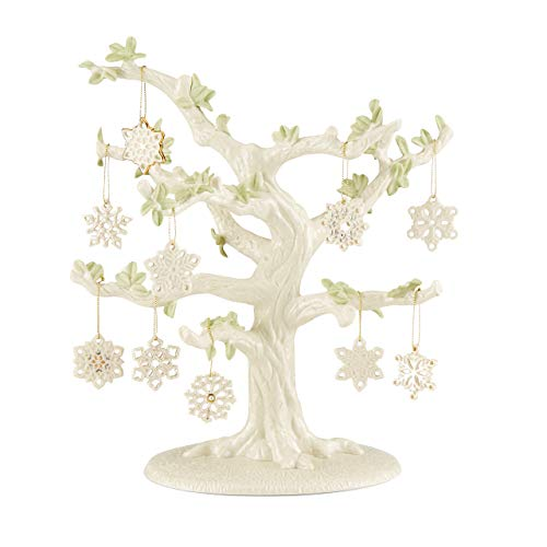Lenox Snowflake 10-Piece Ornament & Tree Set, 6.35 LB, Multi, 11
