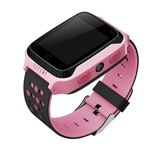 CALMEAN GO Smartwatch für Kinder mit GPS- und LBS-Ortung. Eingebaute Taschenlampe und Foto. Fitness-Uhr. (Rosa)