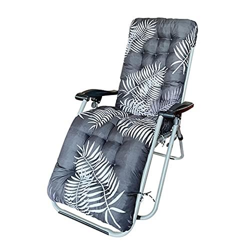 Zhangyo Sitzkissen, für drinnen und draußen, für Bank, Schaukel, Zero-Gravity-Design, großes Stuhlkissen, Schaukelstuhlkissen mit rutschfestem grauen Blättern, 48,9 x 178,6 x 7,6 cm