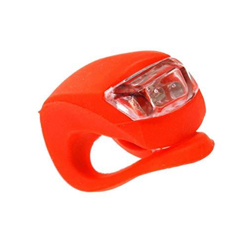 2 Pc Bewegliche Led Clip-on Silicon Band Fahrradbeleuchtung Hinten Sicherheits-warnlampe Radfahren Versorgung Rot Und Weiß Fahrradbeleuchtung