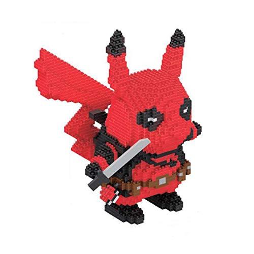 LHANZ Juego de Bloques de construcción Pikachu Partículas pequeñas Ensamblar Rompecabezas Colección de Juguetes Decoraciones Adornos Regalo