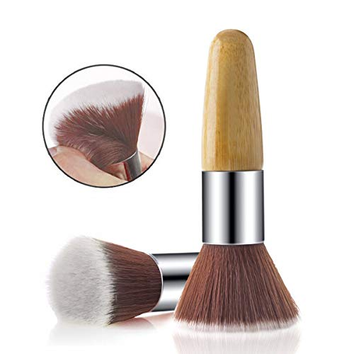 Rosette Multipurpose Bamboo Flat Kabuki Makeup Brush for Foundation Powder Blush Brush and Mineral BB Cream 1Pcs Kabukist2
