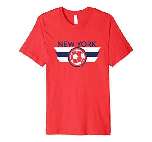 New York Soccer Jersey Style Football Men Women Kids Fan Premium T-Shirt