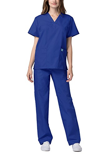 Adar Universal Medical Scrubs Set Medical Uniforms – Unisex Fit – 701 – RYL -2X - 3