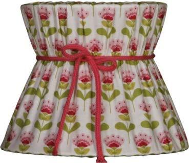 Lieblingslampen Lampenschirm weiß pink grün Retro floral Blumen Blüten Shabby Nordika