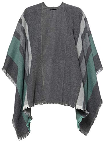 BRAX Damen Style Tanja Poncho, GREEN, One size