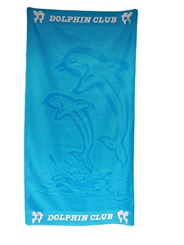 P.K. Textilien Strandtuch Delfin Badetuch 70x130cm Blau Dolphin Meer Ferien Urlaub
