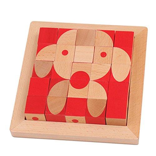 ZHAOHUIFANG Casse-tête Cube De Construction Cube Puzzle 3D Jeu De Bureau Jouets pour Enfants 3-14 Ans Choc Spécial