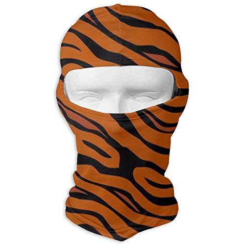 Tiger Stripe Animal Balaclava Full Motorcycle Helmet Liner Respirant Polyvalent Sports de Plein Air Wind Proof Dust Head Dust Head Hood