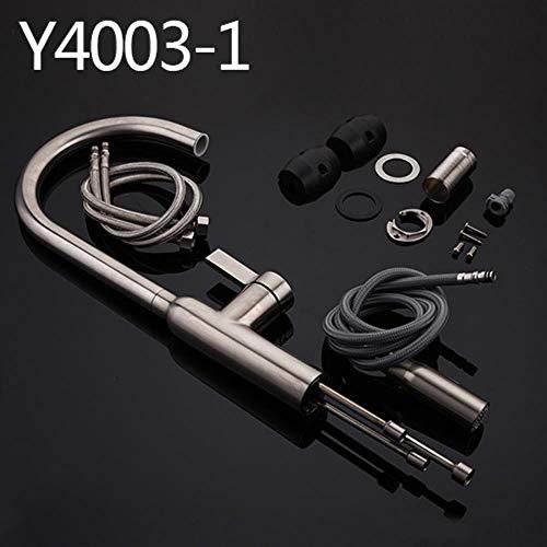 5151BuyWorld waterkraan, keukenkraan, met handdouche en waterkraan, keukenkraan, roestvrij staal, spoelbak Yg4003-1