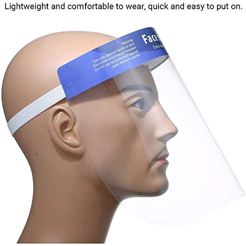 YTGOOD Écran Facial Transparent Anti-buée Anti-buée et Anti-éclaboussures Transparent Couleur aléatoire