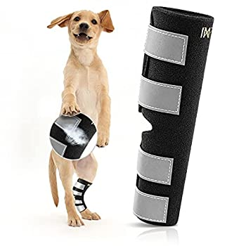 INFANCO Dog Leg Brace Dog Canine Rear Hock Joint Brace Support Injury and Sprain Protection New Material More Soft & Sturdy,Dog Hock Supportive Wrap for Arthritis Pain Relief  1 Pair