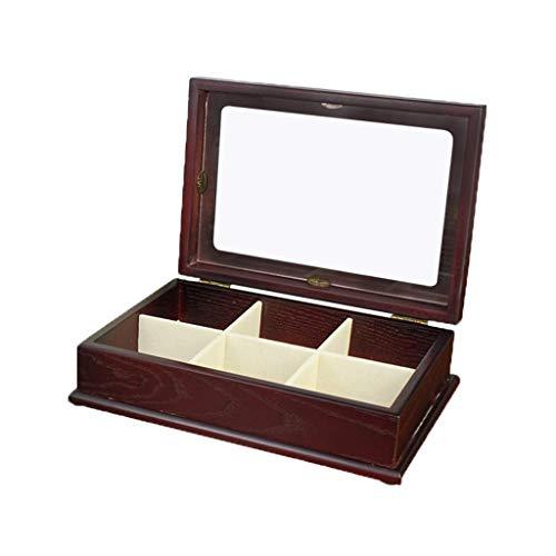 ZXL Organisateur cosmétique Boîte de Rangement de Bijoux en Bois Vintage Chinois Cadeau de fête à Double Couche Arrangement Festival 2 Couleurs (Couleur: A)