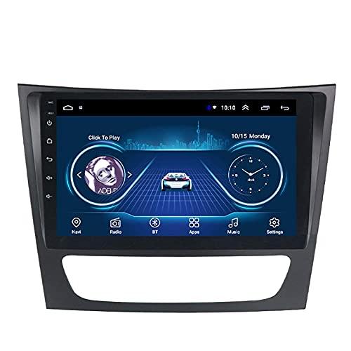 GPS Car Stereo Sat Nav Adecuado para Mercedes-Benz E W211 2005-2010 Car Stereo Vehicle GPS Capacitive Touch HD Carplay WiFi Sistema de Radio Incorporado Tracker, 4Core 4G + WiFi: 2 + 32G