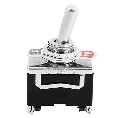 Interruptor basculante AVA SPST de 2 polos, encendido/apagado, 10 unidades, 12 V, 24 V, 220 V, 230 V