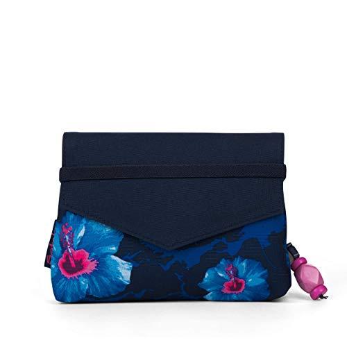 Satch Beauty Wallet – Kosmetiktasche, Zwei Fächer, mit Spiegel - Waikiki Blue, Blau