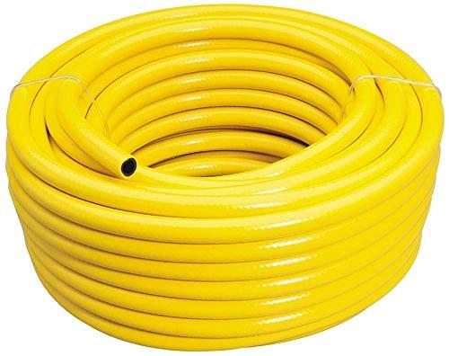 Draper 56314 - Tubo per irrigazione rinforzato con foro da 12 mm, PVC, Giallo, 30 m