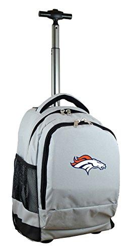 NFL Denver Broncos Wheeled Backpack, 19-inches, Grey