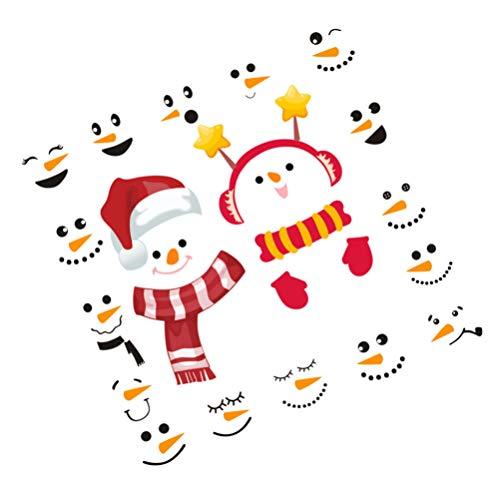 NICEXMAS 2Pcs Adesivos de Parede de Natal Boneco de Neve Adesivos de Janela Adesivos de Geladeira Adesivos de Janela Adesivos de Parede de Filme de Janela para Copos de Geladeira Festa de