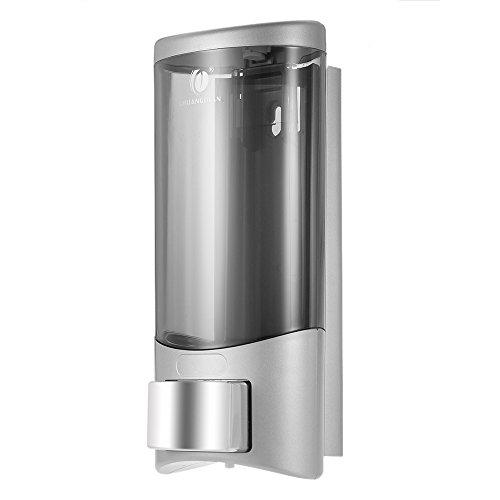 Anself chuangdian – Dispensador de jabón para pared Fijación Con tornillos 500 ml, plástico, plata