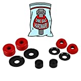 Dime Bag Hardware Skateboard Truck Rebuild Kit Bushings Washers Pivot Cups for 2 Trucks (96A Red)