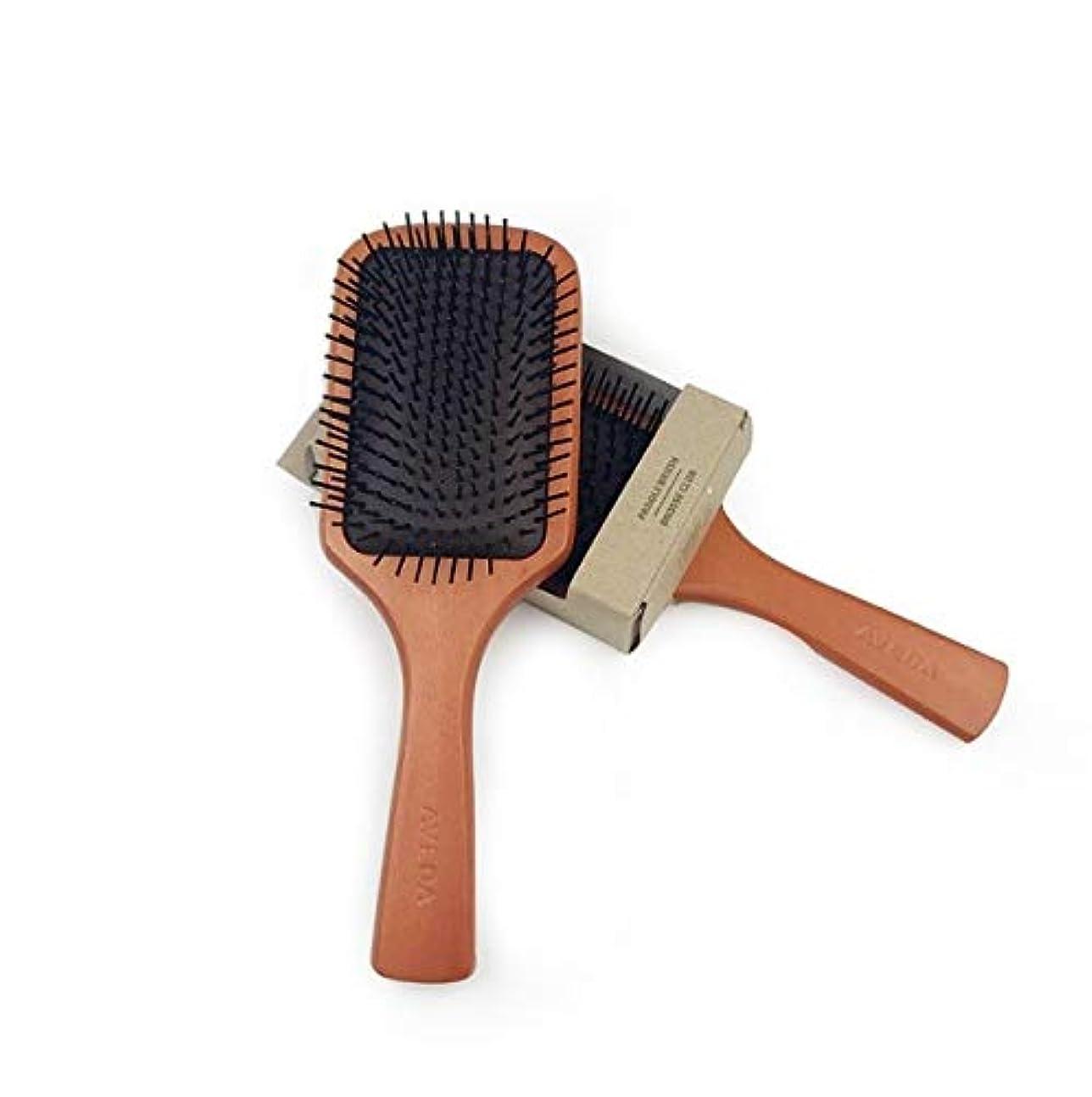 木製の櫛、ピーチウッド帯電防止エアクッションマッサージ櫛、巻き毛の櫛の髪の櫛、髪の櫛、髪の櫛