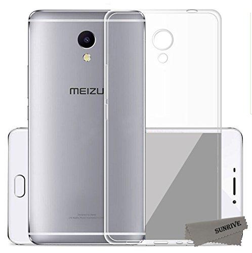 Sunrive Meizu M5S Hülle Silikon, Transparent Handyhülle Schutzhülle Etui Case Backcover für Meizu M5S(TPU Kein Bild)+Gratis Universal Eingabestift