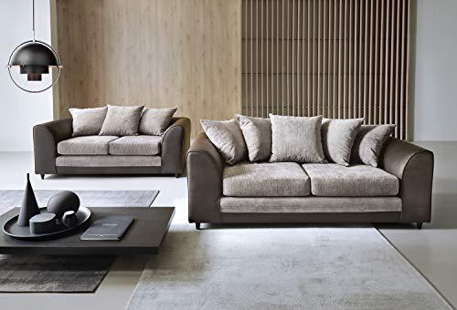 Dylan Byron 2+ 3-Sitzer-Sofa in braun und beige