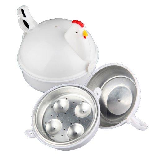 Wohlstand Mikrowellen Eierkocher, Chick-shaped13.3 * 15.7 * 15.7cm,Mikro-Eierkocher Huhn, Kochutensilien Kuechenhelfer Zubehoer Werkzeuge