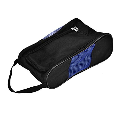 Cocosity Golf Shoes Bag, 2Colors Sports Shoes Bag, Durable Sports Accessory Breathable for Sports Accessory Shoes(Black blue)