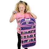 EASYVIEW Travel Doll Toy Storage Organizer Case Compatible (Purple-Pink)