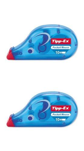 2x Tipp-Ex Pocket Mouse Instant Rouleaux de correction 4,2mm 10m Blanc 42709Tippex