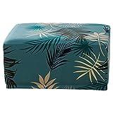 LZDseller01 - Funda para Taburete Cuadrado, Funda de Tobillo Rectangular extraíble, Cubierta Rectangular para Taburete, Protector de sofá, Verde, Tamaño Libre