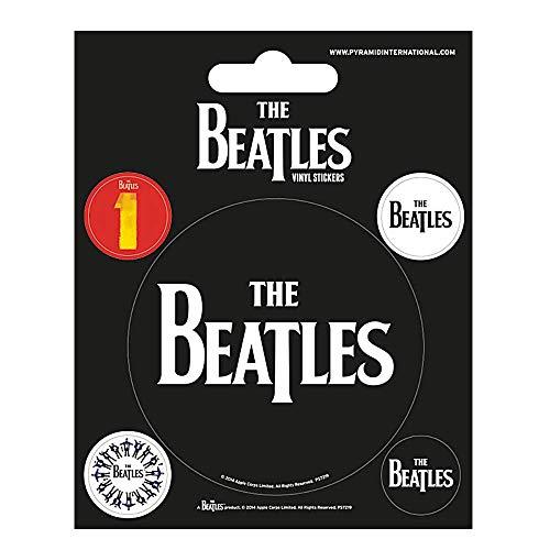 The Beatles Vinyl-Aufkleber, Schwarz, 5 Stück