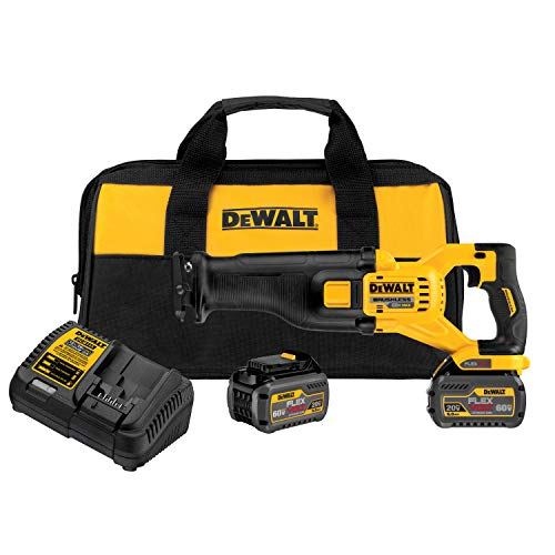 DEWALT DCS388T2 FLEXVOLT 60V MAX Lithium-Ion Brushless Reciprocating Saw Kit (includes 2 Batteries)