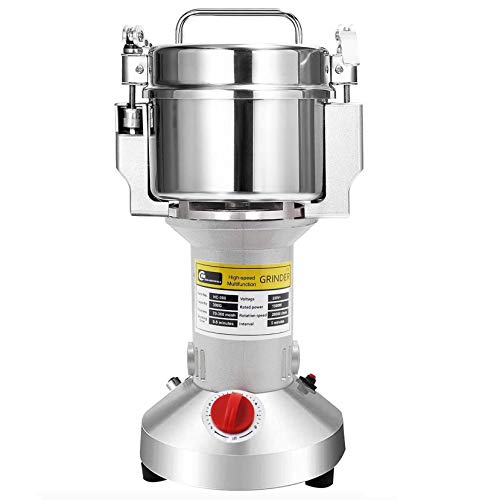 CGOLDENWALL 1500W Open-Cover-Stop Electric Grain Grinder 300g Stand Type...