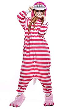 Cheshire Cat Unisex Anime Cosplay Romper Outfit