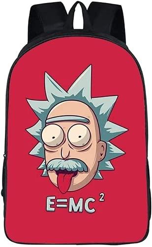 Rick and Morty Rick and Morty Sac à dos cartable cartoon 3D Sac à dos de voyage (7,16 pouces) (école primaire)
