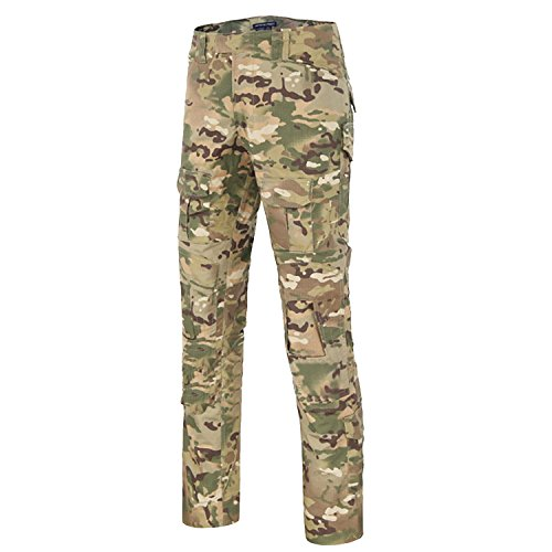 QMFIVE Military Trousers, Men's Shooting Camo Combat BDU Combat Pants Trousers for Tactical Military Army Airsoft Paintball