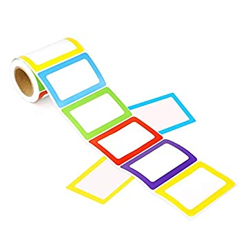 Colorful Plain Name Tag Labels 3 1/2 X 2 1/4 5 Color 200 Stickers.
