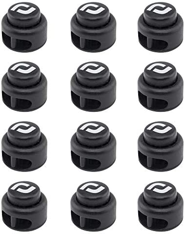 RJ Sport Heavy Duty Cord Locks Double Hole Drawstring Stopper Fastener for No Tie Shoelaces product image