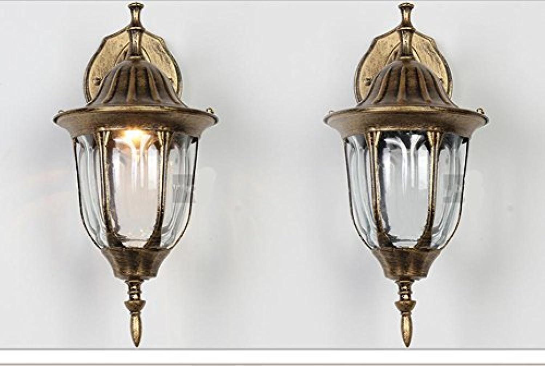 H&M Wandlampe Vintage American kreative Schmiedeeisen Bett Gang Flur Schlafzimmer Wandleuchte, 1164 Sweep Gold